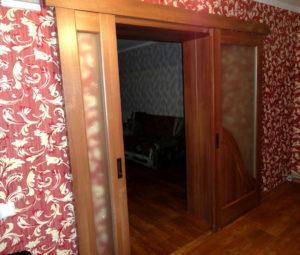 Двери двойные раздвижные двухстворчатые